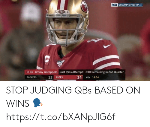 based: STOP JUDGING QBs BASED ON WINS 🗣 https://t.co/bXANpJIG6f