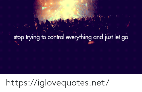 Stop Trying: stop trying to control everything and just let go https://iglovequotes.net/