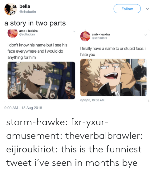 tweet: storm-hawke:  fxr-yxur-amusement:  theverbalbrawler:  eijiroukiriot: this is the funniest tweet i've seen in months bye