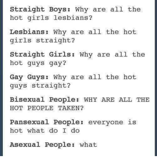 why are all the hot guys gay