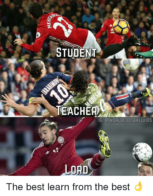 Student Teacher: STUDENT  TEACHER  IG: CWORLDFOOTBALLVIDS  LECT  LORD The best learn from the best 👌