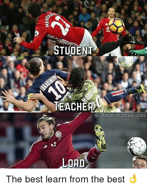 Student Teacher: STUDENT  TEACHER  IGE GWORLDFOOTBALLVIDS  ECT  LORD The best learn from the best 👌