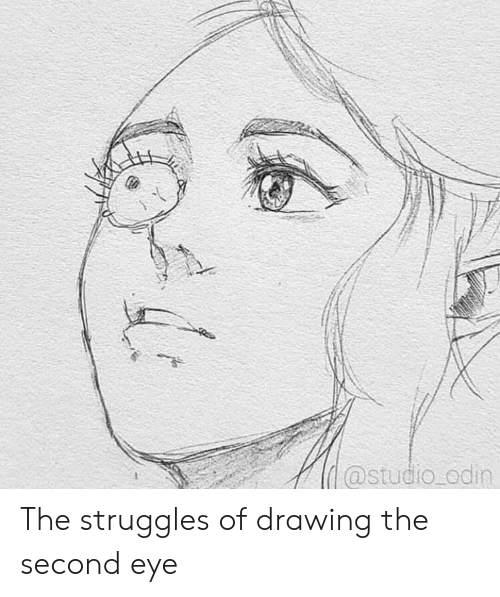 Odin, Eye, and Studio: @studio odin The struggles of drawing the second eye