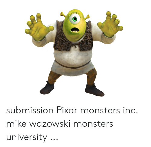 Submission Pixar Monsters Inc Mike Wazowski Monsters