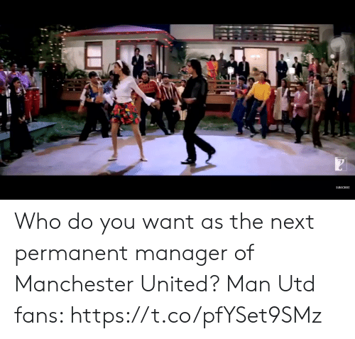 Soccer, Manchester United, and United: SUBSCRIBE Who do you want as the next permanent manager of Manchester United?  Man Utd fans: https://t.co/pfYSet9SMz