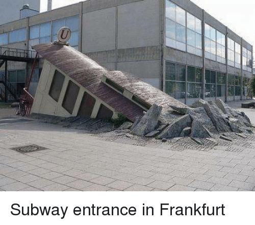 Subway, Entrance, and Frankfurt: Subway entrance in Frankfurt