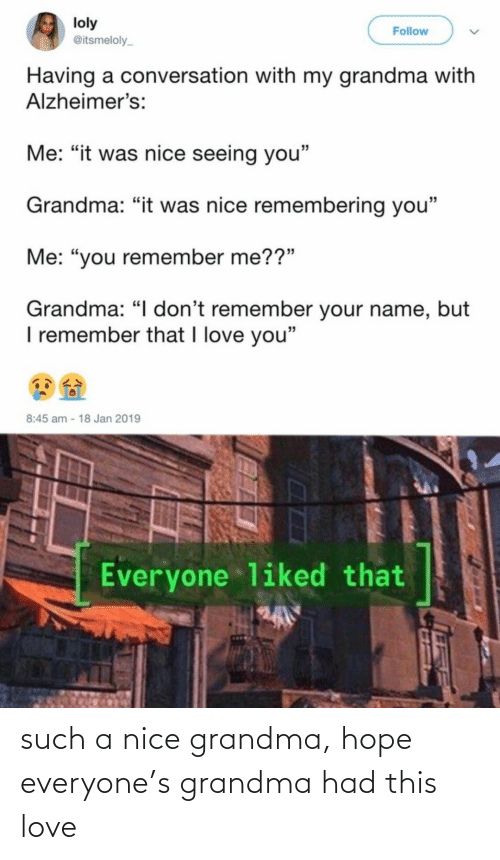 Grandma: such a nice grandma, hope everyone's grandma had this love