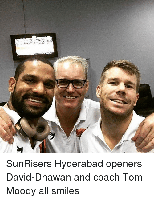 Memes, Smiles, and 🤖: SunRisers Hyderabad openers David-Dhawan and coach Tom Moody all smiles