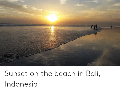 Indonesia: Sunset on the beach in Bali, Indonesia