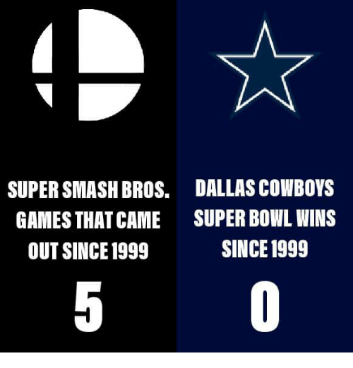 Dallas Cowboys, Nfl, and Smashing: SUPER SMASH BROS.  GAMES THAT CAME  OUT SINCE1999  DALLAS COWBOYS  SUPER BOWL WINS  SINCE 1999