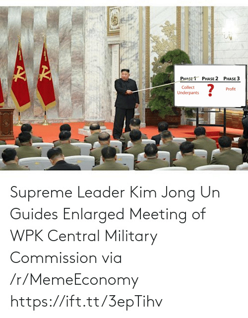 Supreme: Supreme Leader Kim Jong Un Guides Enlarged Meeting of WPK Central Military Commission via /r/MemeEconomy https://ift.tt/3epTihv