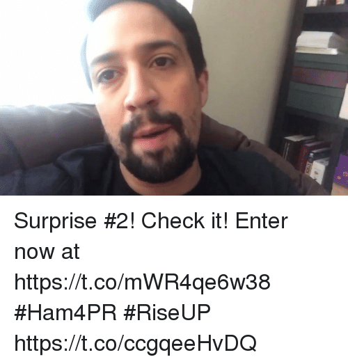 Memes, 🤖, and Check: Surprise #2! Check it! Enter now at https://t.co/mWR4qe6w38 #Ham4PR #RiseUP https://t.co/ccgqeeHvDQ