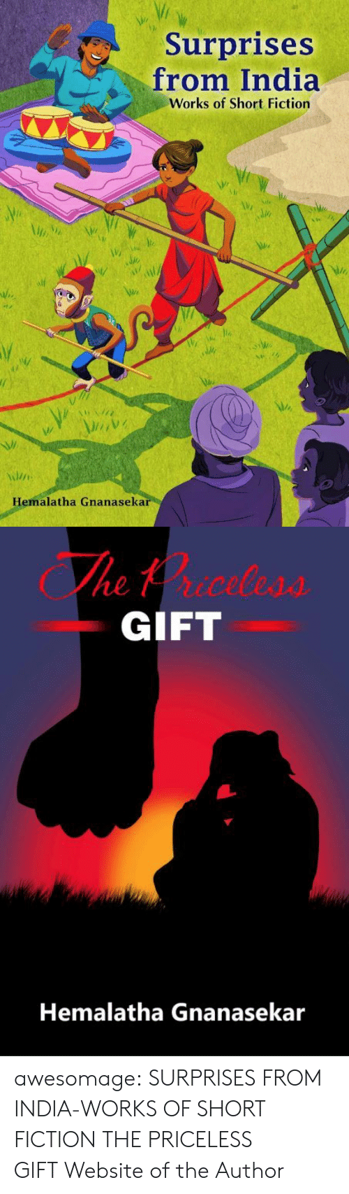 Fiction: Surprises  from India  Works of Short Fiction  Hemalatha Gnanasekar   The trceless  GIFT  Hemalatha Gnanasekar awesomage:  SURPRISES FROM INDIA-WORKS OF SHORT FICTION THE PRICELESS GIFT Website of the Author