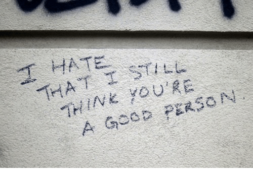 "Person, Hate, and Youre: ""T  HATE.  THINE YOURE  A Gosa PERSON"