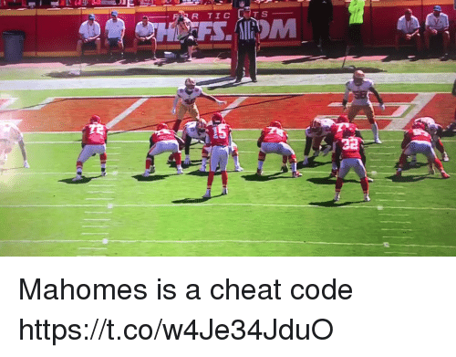 Football, Nfl, and Sports: T S  HFS.AIOM Mahomes is a cheat code https://t.co/w4Je34JduO