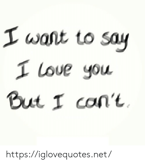 Love, Net, and You: T wast to sau  1 Love you.  BuL I con't https://iglovequotes.net/