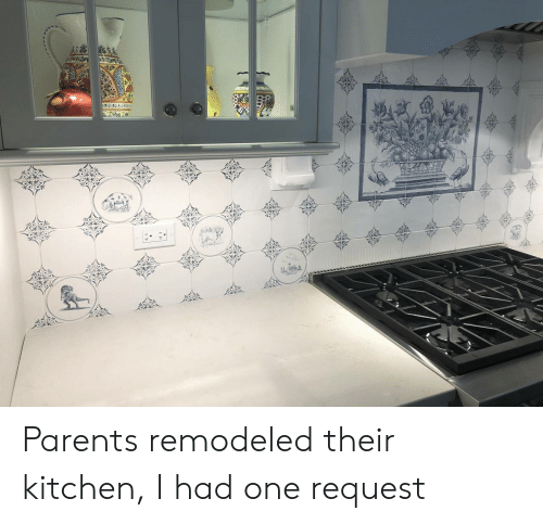 Parents, One, and Kitchen: TAB  wger Parents remodeled their kitchen, I had one request