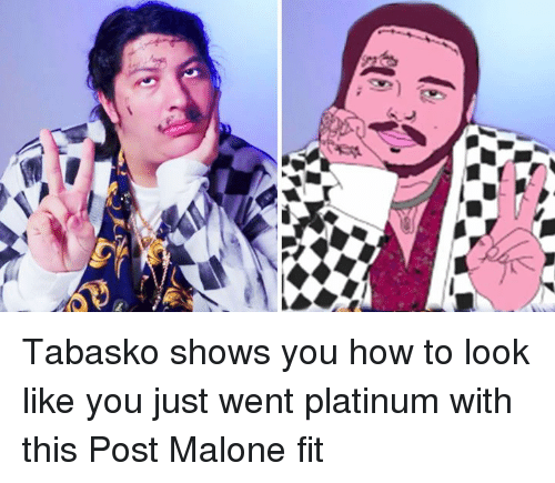 Post Malone, How To, and How: Tabasko shows you how to look like you just went platinum with this Post Malone fit