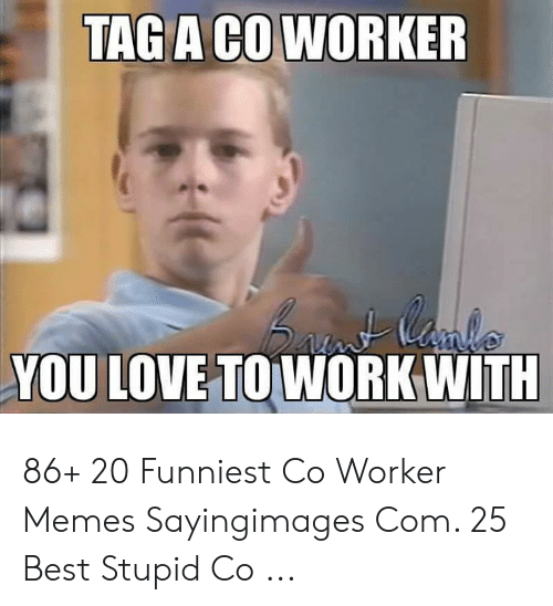 Love, Memes, and Work: TAG A CO WORKER  YOU LOVE TO WORK WITH 86+ 20 Funniest Co Worker Memes Sayingimages Com. 25 Best Stupid Co ...