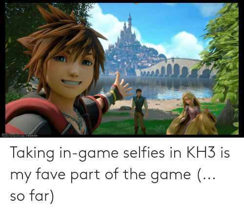 selfies: Taking in-game selfies in KH3 is my fave part of the game (... so far)