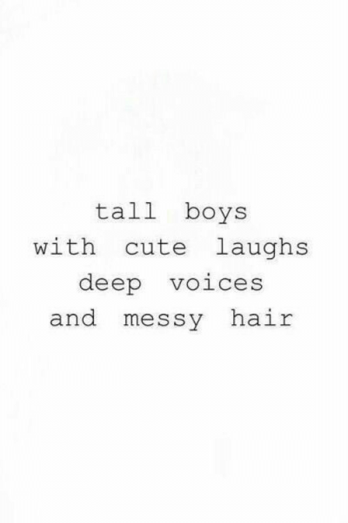 Cute, Hair, and Boys: tall boys  cute laughs  with  deep  voices  and messy  hair