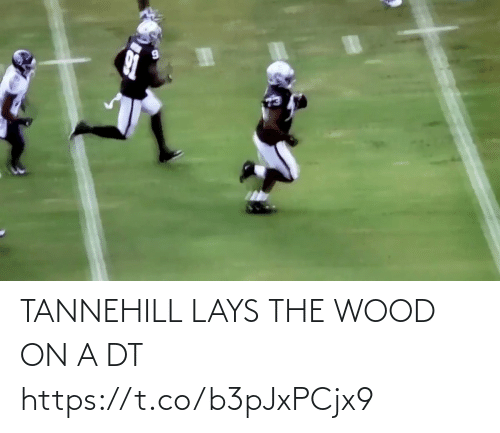Lay's, Nfl, and Wood: TANNEHILL LAYS THE WOOD ON A DT https://t.co/b3pJxPCjx9