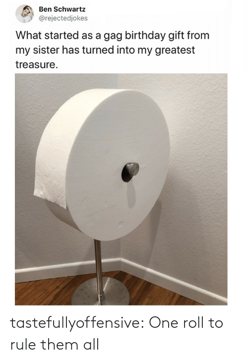 roll: tastefullyoffensive:  One roll to rule them all