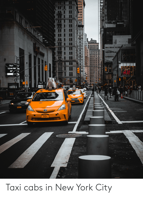 in-new-york-city: Taxi cabs in New York City