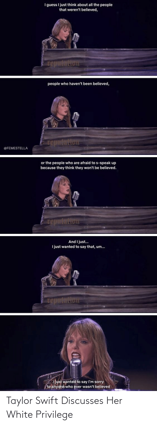 Taylor Swift: Taylor Swift Discusses Her White Privilege