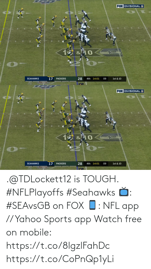 Seahawks: .@TDLockett12 is TOUGH. #NFLPlayoffs #Seahawks  📺: #SEAvsGB on FOX 📱: NFL app // Yahoo Sports app Watch free on mobile: https://t.co/8lgzlFahDc https://t.co/CoPnQp1yLi