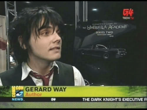 Conned: TECHTV  MBRELLA ACADEMY  SERIES TWO  CON  GERARD WAY  Author  NEWS  THE DARK KNIGHTS EXECUTIVE