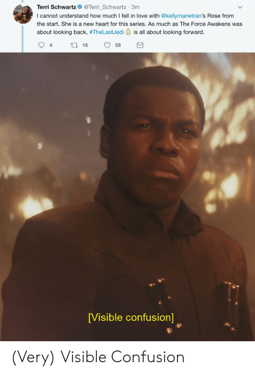 the force awakens: Terri SchwartzTerri Schwartz 3m  I cannot understand how much I fell in love with @kellymarietran's Rose from  the start. She is a new heart for this series. As much as The Force Awakens was  about looking back, #TheLastJedi is all about looking forward.  94 tl 6 58  [Visible confusion] (Very) Visible Confusion