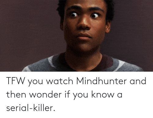 Serial: TFW you watch Mindhunter and then wonder if you know a serial-killer.