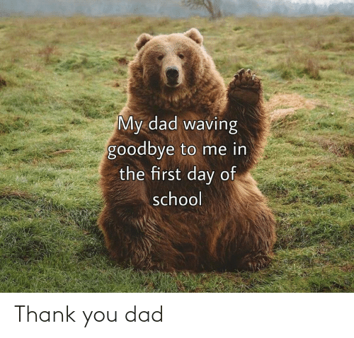 Thank You: Thank you dad