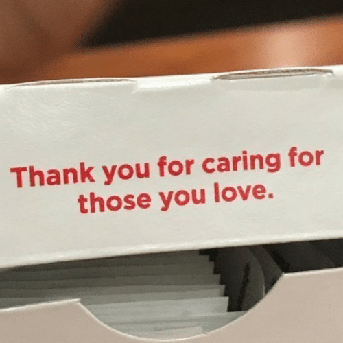 Love, Thank You, and You: Thank you for caring for  those you love.