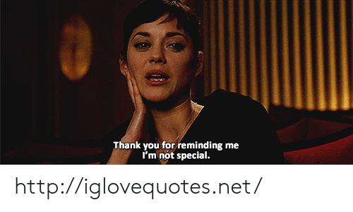 Thank You, Http, and Net: Thank you for reminding me  I'm not special http://iglovequotes.net/