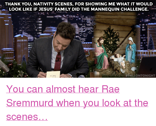 """Rae Sremmurd: THANK YOU, NATIVITY SCENES, FOR SHOWING ME WHAT IT WOULD  m LOOK LIKE IF JESUS FAMILY DID THE MANNEQUIN CHALLENGE.  ALLONTONIGHT <p><a href=""""https://www.youtube.com/watch?v=ZPO9Okkb2WA&amp;index=5&amp;list=UU8-Th83bH_thdKZDJCrn88g"""" target=""""_blank"""">You can almost hear Rae Sremmurd when you look at the scenes&hellip;</a></p>"""
