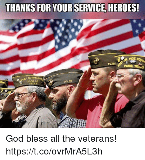 God, Memes, and Heroes: THANKS FOR YOUR SERVICE, HEROES!  200e-0  TEXAS  TEXAS God bless all the veterans! https://t.co/ovrMrA5L3h