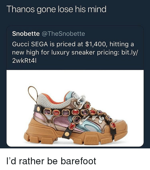 71d85a0f1fd Thanos Gone Lose His Mind Snobette Gucci SEGA Is Priced at  1400 ...