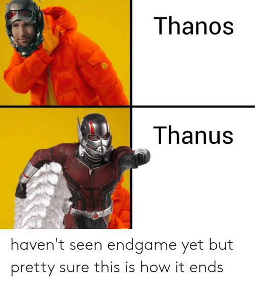 Thanos, How, and Endgame: Thanos  Thanus haven't seen endgame yet but pretty sure this is how it ends