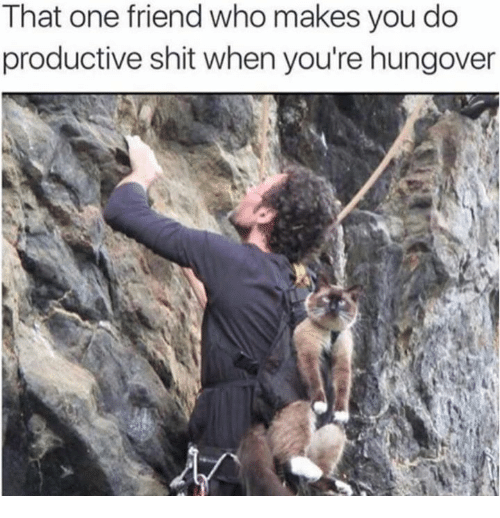 Dank, Shit, and 🤖: That one friend who makes you do  productive shit when you're hungover