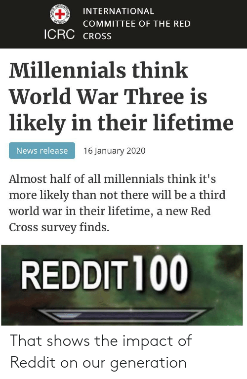 Impact Of: That shows the impact of Reddit on our generation