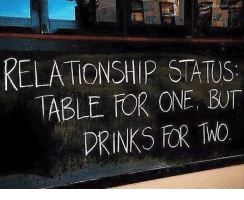 Memes, Relationship Status, and 🤖: ThatBender  RELATIONSHIP STATUS  ABLE OR ONE BUT  DRINKS FOR WO