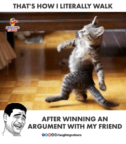 Indianpeoplefacebook, How, and Friend: THAT'S HOW I LITERALLY WALK  AUGHING  AFTER WINNING AN  ARGUMENT WITH MY FRIEND  pOOO®/laughingcolours