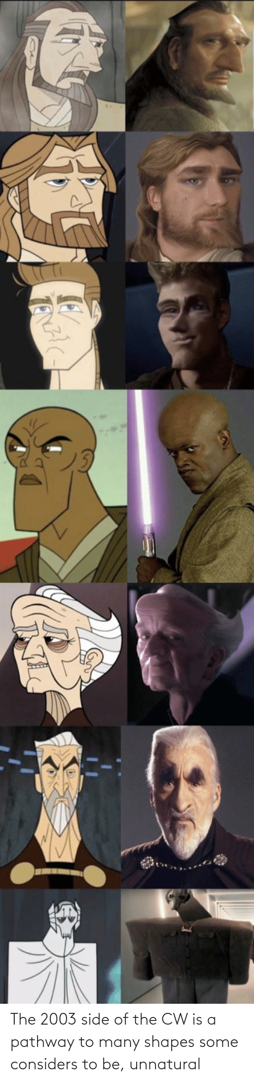 shapes: The 2003 side of the CW is a pathway to many shapes some considers to be, unnatural