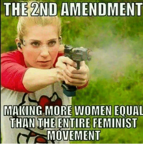 Memes, Women, and 2nd Amendment: THE 2ND AMENDMENT  MAKING MORE WOMEN EOUAL  THAN THE ENTIRE FEMINIST  MOVEMENT