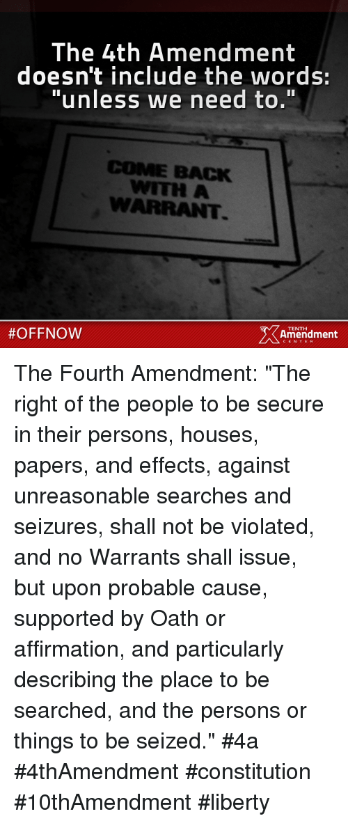 "the right of people to secure themselves as stipulated in the us fourth amendment Changing the us constitution not on my watch 6 proposed the right of the people to keep and ""if the body of the people will not govern themselves."