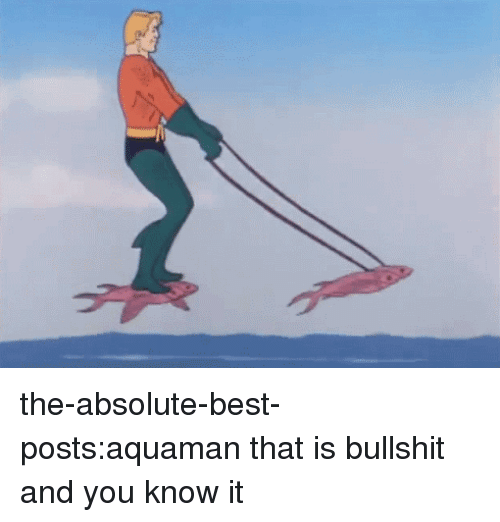 aquaman: the-absolute-best-posts:aquaman that is bullshit and you know it
