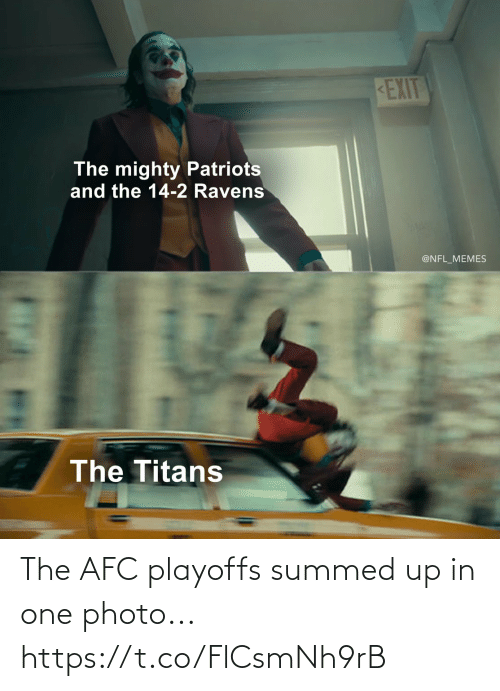 photo: The AFC playoffs summed up in one photo... https://t.co/FlCsmNh9rB