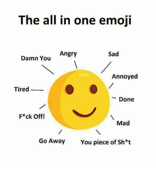 The All in One Emoji Angry Sad Damn You Annoyed Tired Done F*ck Off